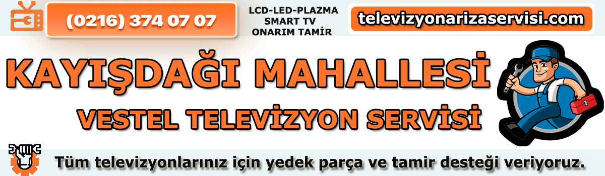 Kayışdağı Mahallesi Vestel Tv Tamircisi Tv Özel Servisi 0216 374 07 07